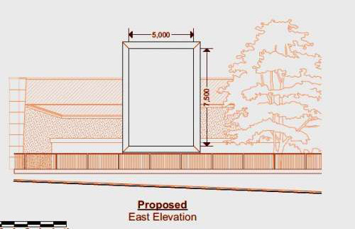 Elevation image of proposed Mina Road application half
